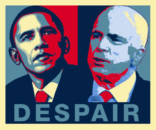 Obama McCain Despair