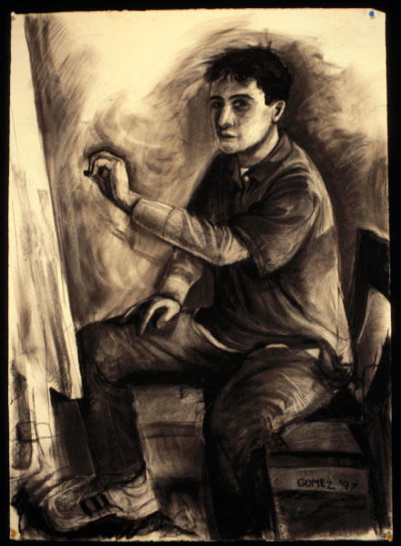 Charcoal Self-Portrait