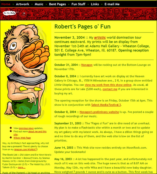 Pages of Fun 2001-2004