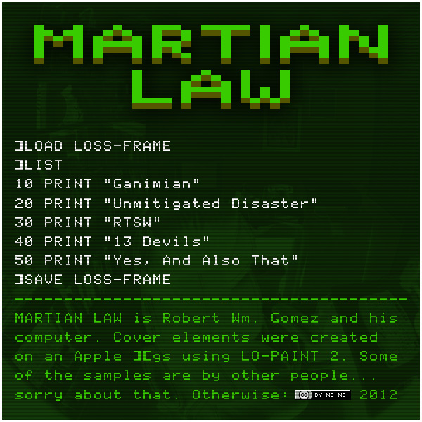 Martian Law - Loss-Frame (back)