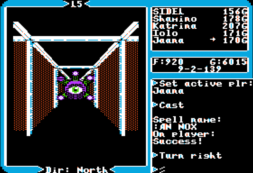 Roaming the halls of an Ultima V dungeon