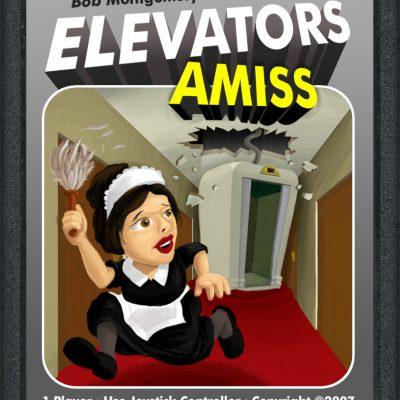 Elevators Amiss Atari Cartidge Label Concept