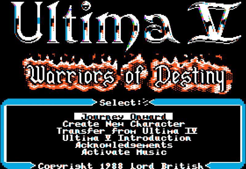 Ultima V: Title Screen
